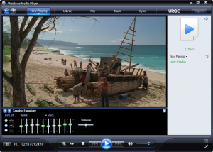 Screenshot of windows media player